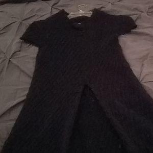 BcbgGirls Black Capsleeve Dress Size M